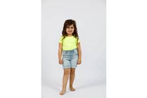 Детская салатовая футболка для девочки на лето Cat & Jack