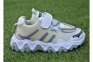 Детские демисезонные кроссовки Nike Air Huarache найк кожаные оливковый р27-32