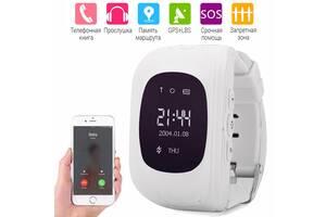 Детские умные часы Q50 с GPS трекером и функцией телефона Smart Baby Watch Смарт-часы OLED Белые