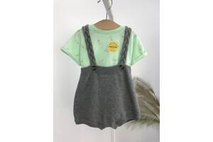Детский костюм трикотажный комбинезон + боди Cat & Jack