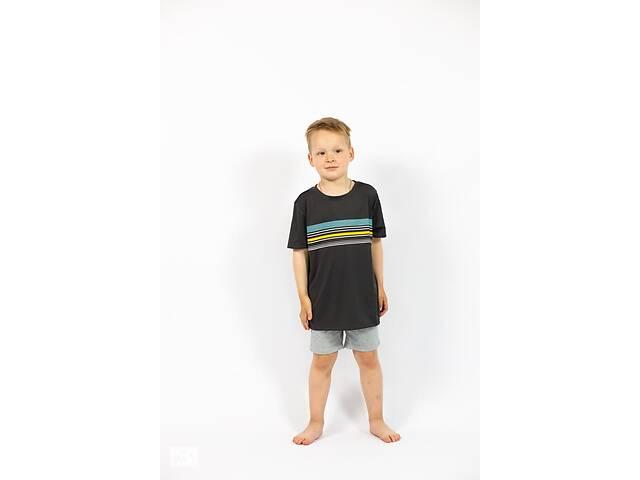 бу Детская темно-серая футболка на мальчика с полосками Cat & Jack в Ивано-Франковске