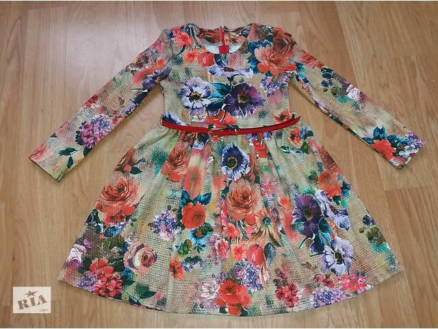 купить бу Детская трикотажное платье «Цветочки», модель № 89 в Хмельницком