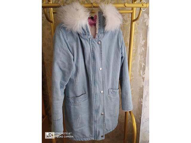 Джинсова куртка з хутром- объявление о продаже  в Михайлівці