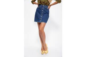 Джинсовая юбка 129R590-3 цвет Синий