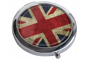 Эффектное зеркальце  GREAT BRITAIN FLAG Девайс Мейкер 22-08-060, серебристый