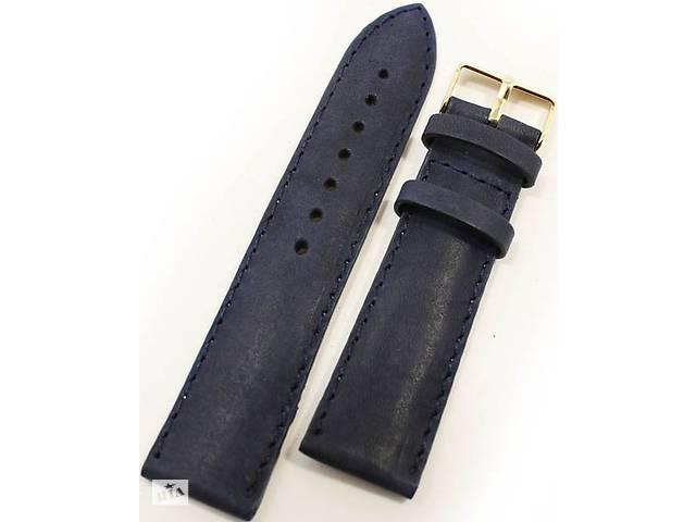 Элегантный мужской ремешок для часов, кожаный Mykhail Ikhtyar 8028 синий