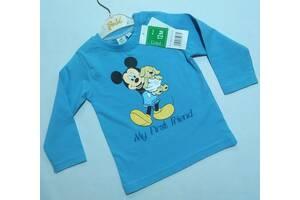 Голубой реглан Disney с Микки Маусом р. 12 мес