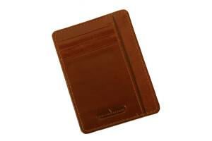 Картхолдер кожаный Vip Collection К2 Newport Коньячный