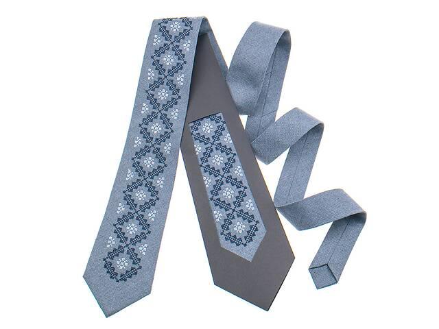 Классический галстук с вышивкой №850- объявление о продаже  в Чернигове