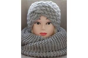 Комплект повязка-чалма и шарф-снуд 5 кольорів