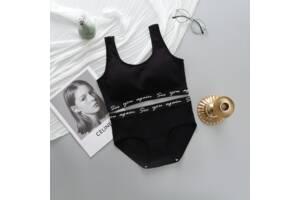 Комплект женского белья топ и трусики черный SKL11-292579