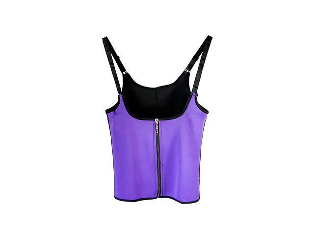купить бу Корректирующая майка-корсет Vshape Trainer K3 с молнией Фиолетовый в Харкові