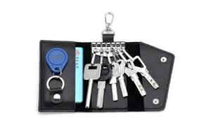 Кожаная мягкая ключница - подарок для женщин и мужчин