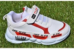 Кожаные демисезонные детские кроссовки Nike найк белые р31-35