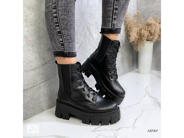 продам ТОЛЬКО 39р. Кожаные женские ботинки демисезонные, женские ботинки Prada 39р-25 см бу в Ровно