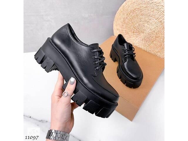 бу Кожаные женские туфли на платформе 37,39,40р в Ровно