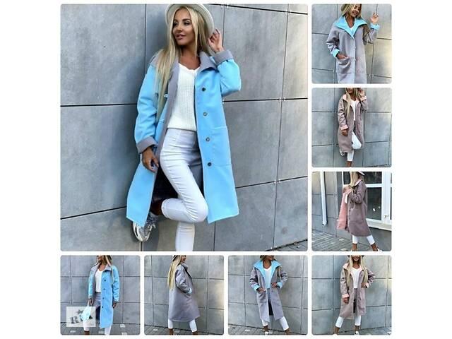 Красивое женское пальто демисезонное кашемировое на пуговицах и с накладными карманами 4 цвета С М- объявление о продаже  в Харькове
