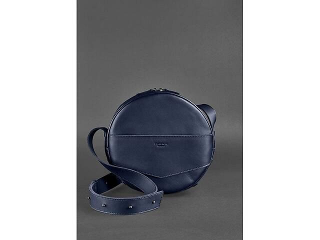 купить бу Круглая сумка-рюкзак maxi Темно-синий BlnkntBN-BAG-30-navy-blue в Киеве