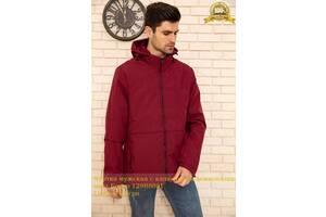 Куртка чоловіча з капюшоном демісезонна колір Бордо 129R8801