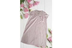 Marks&Spenser Красивая и нежная ночнушка розовая с кружевом и вышивкой UK16-18