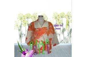 ML original Льняной ПОГ 65 Стильный блузон пиджак в цветочный принт Германия