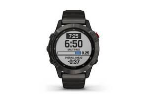 Мультиспортивные часы GARMIN Fenix 6 Pro Solar Titanium Carbon Gray DLC with Titanium Band (010-02410-22)