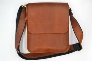 Мужская кожаная сумка через плечо ROMIO (SPCHBr-2020) коричневая