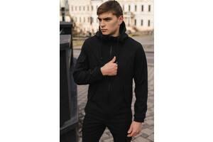 Мужская куртка черная демисезонная и Ключница в подарок SKL59-283371