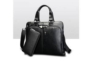Мужская сумка на плечо с клатчем