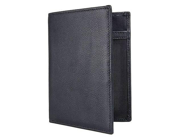 продам Мужской кожаный кошелек  John  Mcdee с органайзером, черный бу в Киеве