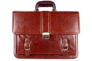 Мужской портфель из кожзаменителя 303013 темно-коричневый