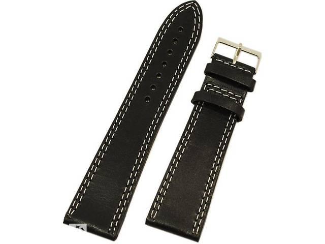 продам Мужской прочный ремешок для часов, кожаный Mykhail Ikhtyar 26-699 черный бу в Киеве
