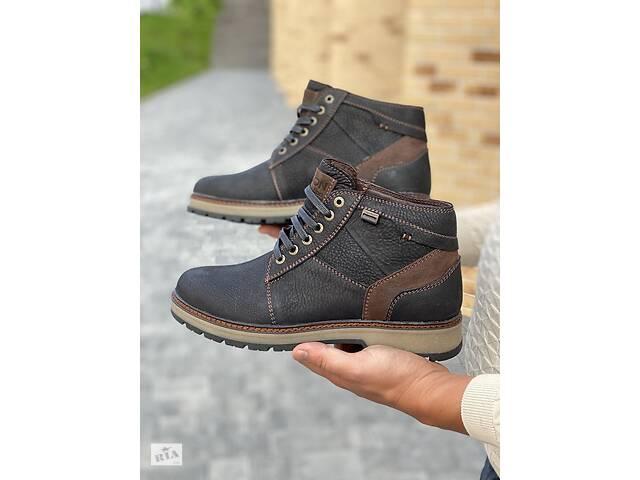бу Мужские ботинки кожаные зимние черные Falcon 6220 в Хмельницком