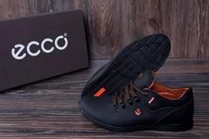 Мужские кожаные кроссовки E-series черные