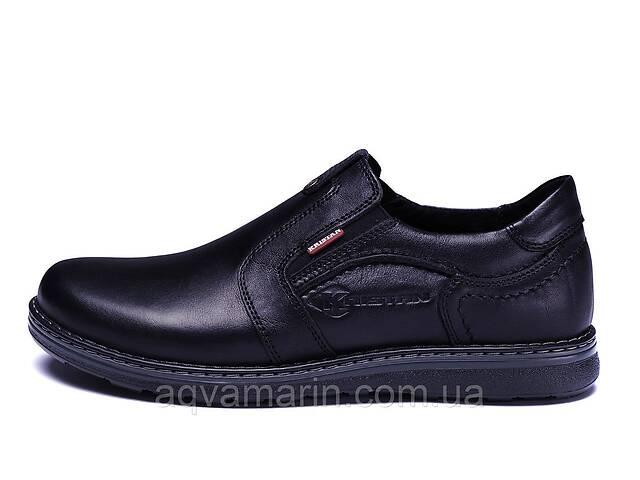 Мужские кожаные туфли Kristan black old school- объявление о продаже  в Львове