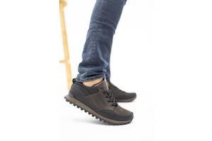 Мужские кроссовки кожаные весна/осень коричневые-черные Anser 95 Emirro