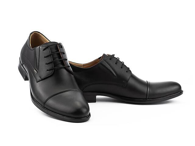 Мужские туфли кожаные весна/осень черные Stas 437-09-10 (43)- объявление о продаже  в Одесі