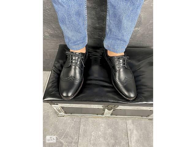 бу Мужские туфли кожаные весна/осень черные Vivaro 611 (Oxford) в Хмельницком
