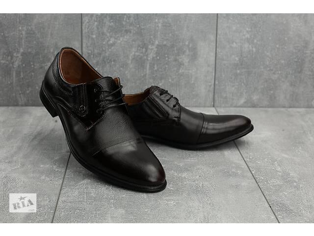 купить бу Мужские туфли кожаные весна/осень коричневые Slat 1801 в Хмельницком