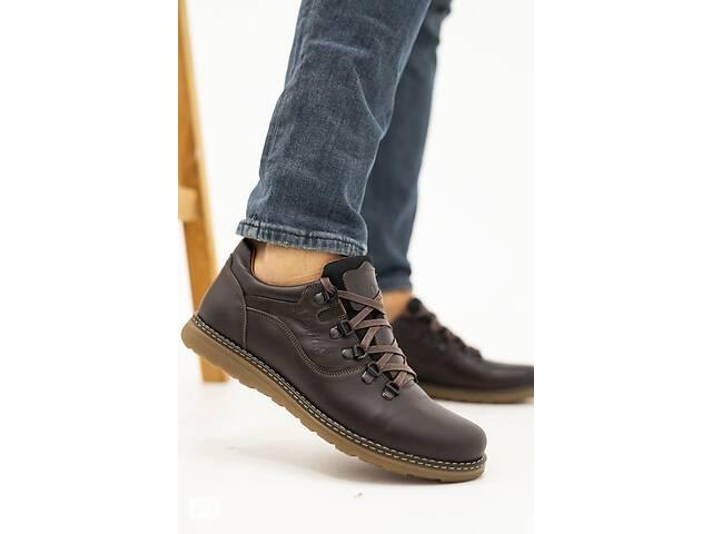 купить бу Мужские туфли кожаные весна/осень коричневые Yuves 650 (43) в Одесі