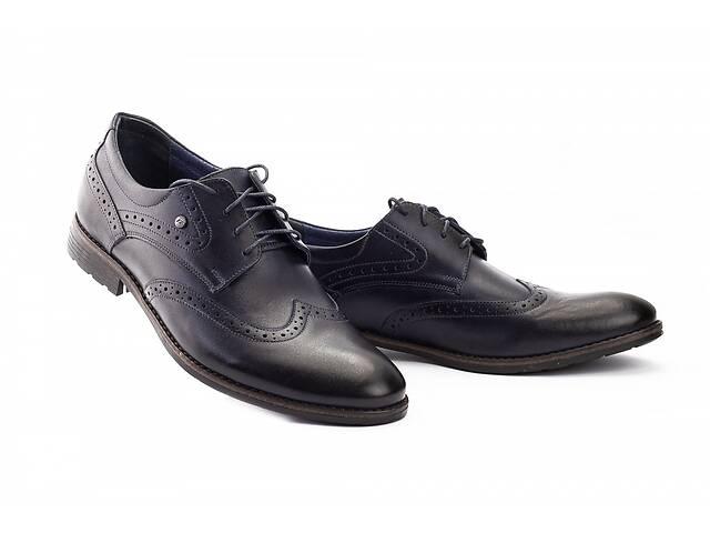 Мужские туфли кожаные весна/осень синие Vivaro 611 (Oxford) (43)- объявление о продаже  в Одесі