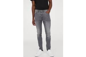 Мужские зауженные серые брендовые джинсы skinny. размер w36 l34