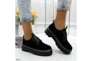 Натуральные замшевые туфли в стиле dr. Martens 36-39,41р