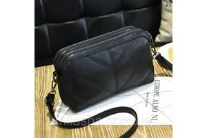 Небольшая женская сумка через плечо на 2 отдела.Видеообзор  КС55