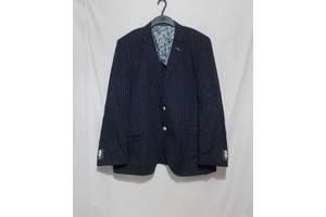 Новый пиджак темно-синий в полоску льняной STONES 54-56р