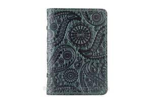 """Обложка-органайзер для ID паспорта / карт, коллекция """"Buta Art"""". Цвет зеленый"""