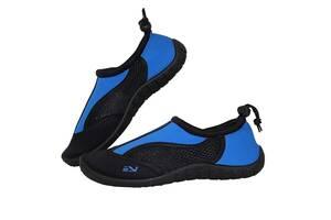 Обувь для пляжа и кораллов аквашузы SportVida Size 40 Black/Blue SKL41-277863