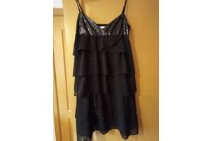 Французское очаровательное маленькое черное платье из шифона для хрупкой милой барышни