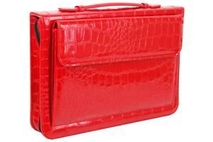 Папка для документів з еко шкіри під крокодила Portfolio Portak-19 червона