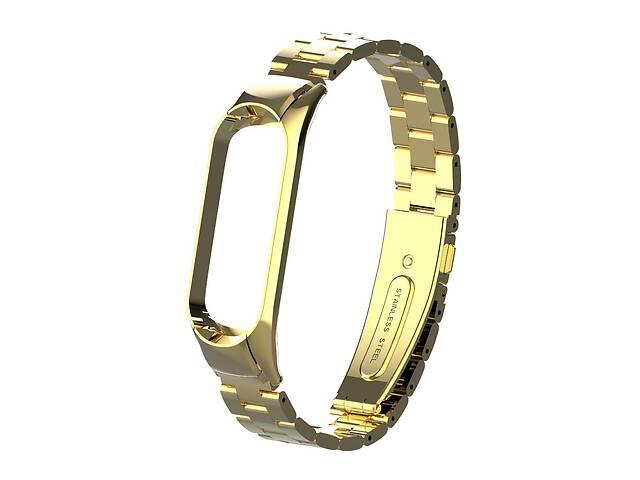 продам Pемешок для фитнес-браслета Mi Band 3 и 4 Bead design, Gold бу в Запорожье